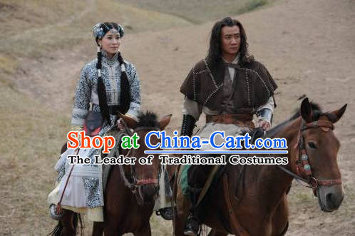 Yelü Chucai Yuan Dynasty Statesman Official Chinese Costume Complete Set for Men