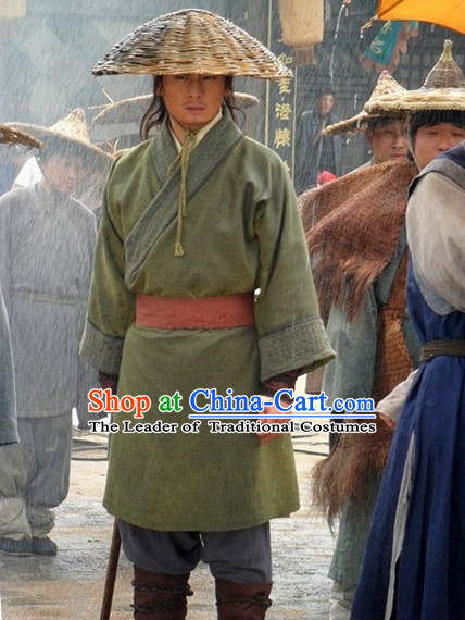 Song Dynasty Wu Song Classic Hero Costume Costumes Dresses Clothing Clothes Garment Outfits Suits Complete Set for Men
