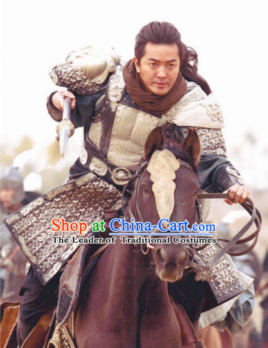Song Dynasty General Yang Yanzhao Body Armor Costume Costumes Dresses Clothing Clothes Garment Outfits Suits Complete Set for Men