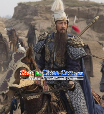 Song Dynasty General Yang Ye Hero Body Armor Costume Costumes Dresses Clothing Clothes Garment Outfits Suits Complete Set for Men