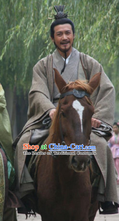 Song Dynasty Su Dongpo Dress Costume Costumes Dresses Clothing Clothes Garment Outfits Suits Complete Set for Men