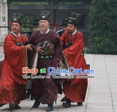 Song Dynasty Chinese Statesman Historian Essayist Calligrapher and Poet Ouyang Xiu Costume Costumes Dresses Clothing Clothes Garment Outfits Suits Complete Set for Men