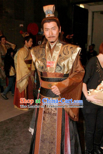 Ming Dynasty Prince Costumes Dresses Clothing Clothes Garment Outfits Suits Complete Set for Men