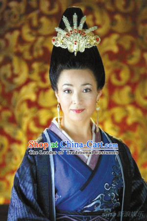 Chinese Han Dynasty Queen Wigs and Hair Accessories for Women