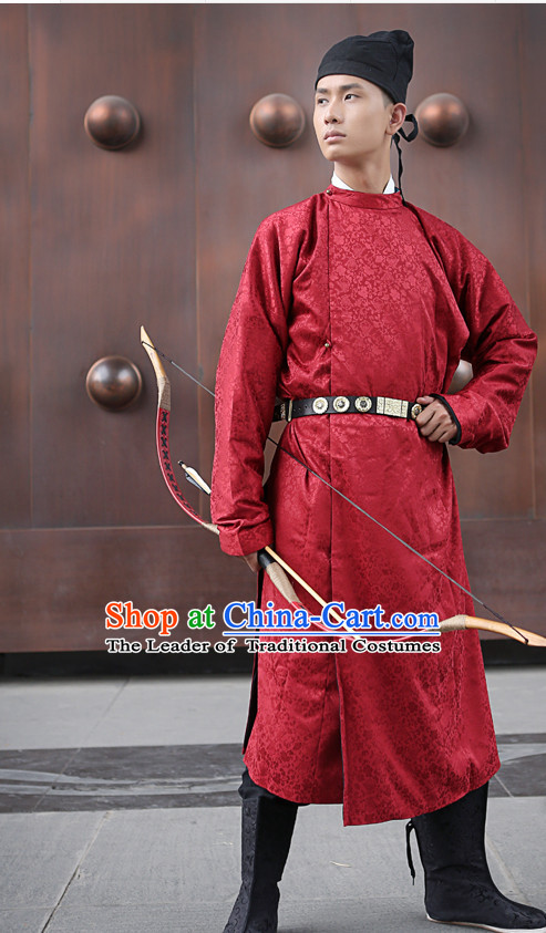 Ancient Chinese Costumes Free Custom Tailored Tang Dynasty Clothing and Hat for Men