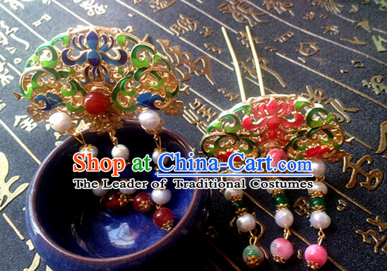 Chinese Ancient Style Headwear Headpieces Hair Jewelry Hairpin for Women