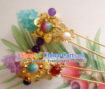 Chinese Ancient Style Imperial Princess Hair Jewelry Accessories Hairpins Headwear Headdress Hair Fascinators for Women