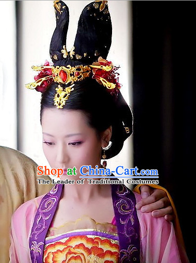 Chinese Ancient Style Imperial Queen Hair Jewelry Accessories Hairpins Headwear Headdress Hair Fascinators for Women