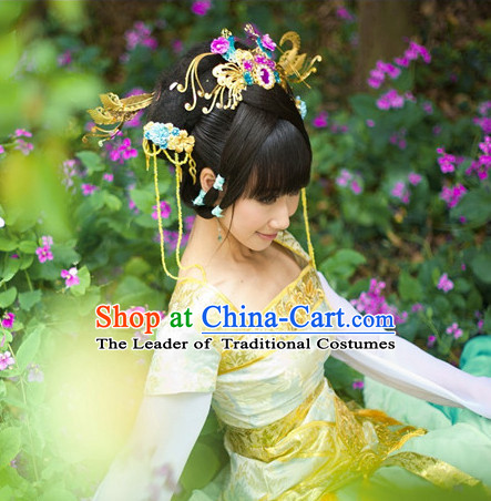 Chinese Ancient Style Princess Hair Jewelry Accessories Hairpins Headwear Headdress Hair Fascinators for Women