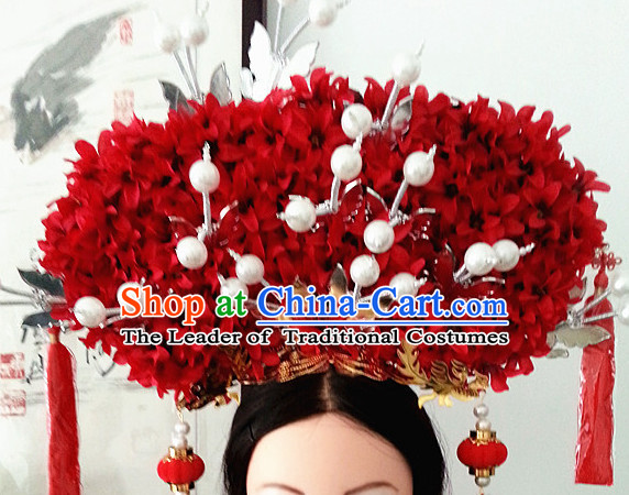 Chinese Ancient Style Princess Wedding Hair Jewelry Accessories Hairpins Headwear Headdress Hair Fascinators for Women