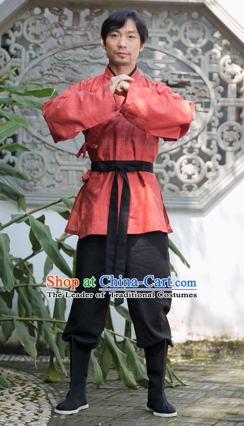 Chinese Costume Chinese Costumes Hanfu Han Dynasty Ancient China Clothing Dress Garment Suit Complete Set for Men