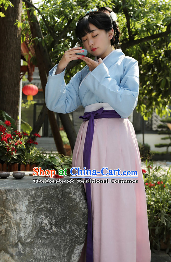 Chinese Costume Chinese Costumes Hanfu Han Dynasty Ancient China Scholar Clothing Dress Garment Suits Clothes Complete Set for Women Ladies