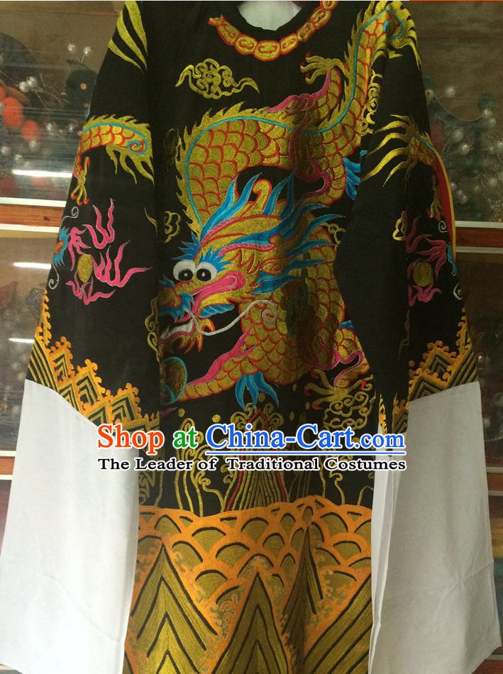 Chinese Opera Dragon Robe Costume Traditions Culture Dress Masquerade Costumes Kimono Chinese Beijing Clothing for Men