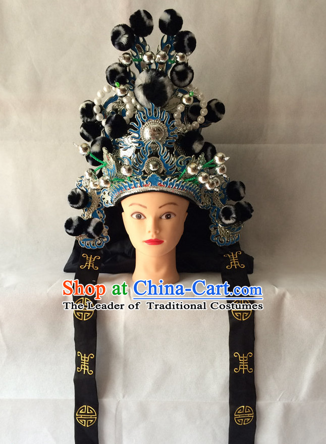 Chinese Traditional Opera Wusheng Hat for Men