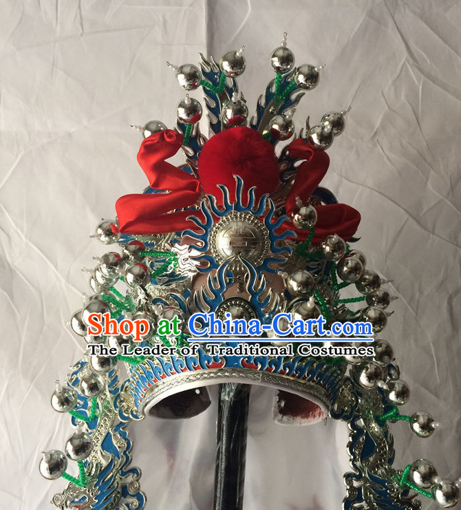 Chinese Traditional Opera Wu Sheng Hat for Men