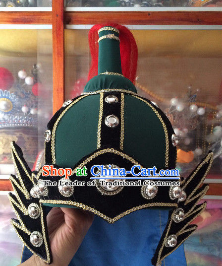 Chinese Traditional Opera Solider Hat for Men