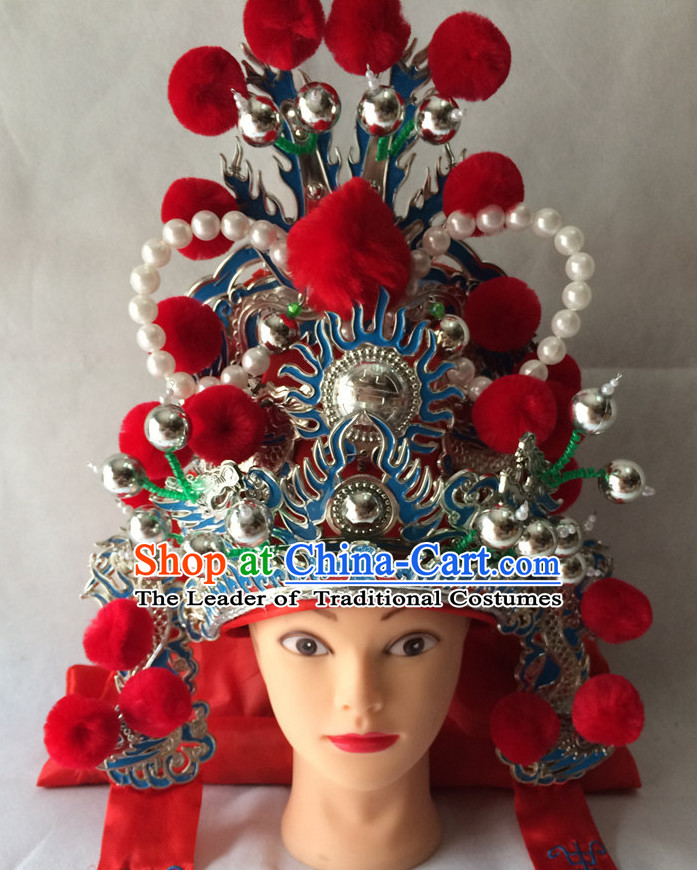 Red Chinese Traditional Opera Hat for Men