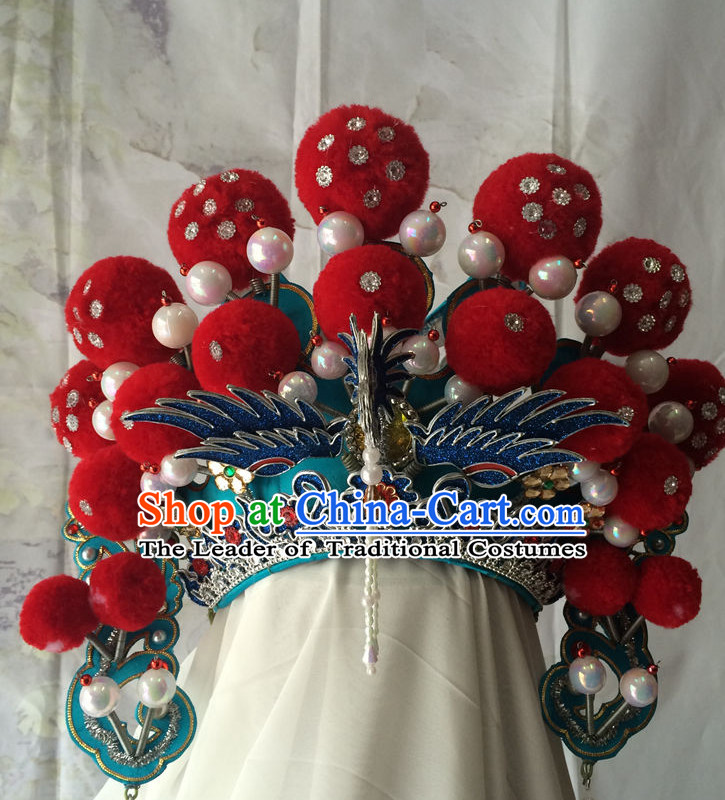 Chinese Classic Opera Phoenix Crown Hat for Women