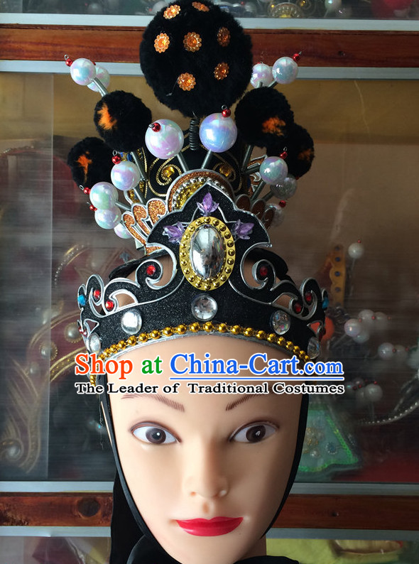 Chinese Opera Helmet Hat Headwear Headpieces Headdress for Men