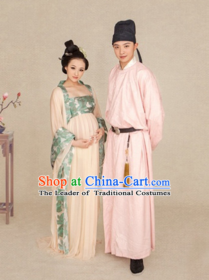 Chinese Tang Dynasty Costume Ancient China Costumes Han Fu Dress Wear Outfits Suits Clothing for Women and Men