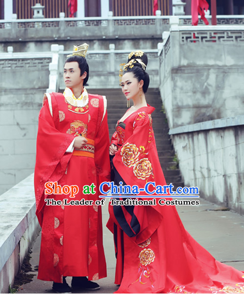 Chinese Wedding Costume Ancient China Costumes Han Fu Dress Wear Outfits Suits Clothing for Men and Women