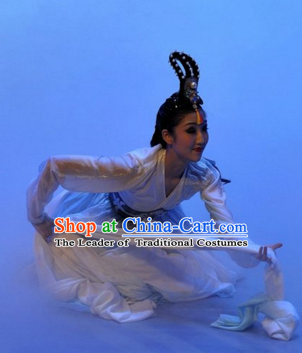 Long Water Sleeve South Korean North Korea Chaoxian Ethnic Minority Dance Costumes Complete Set for Women