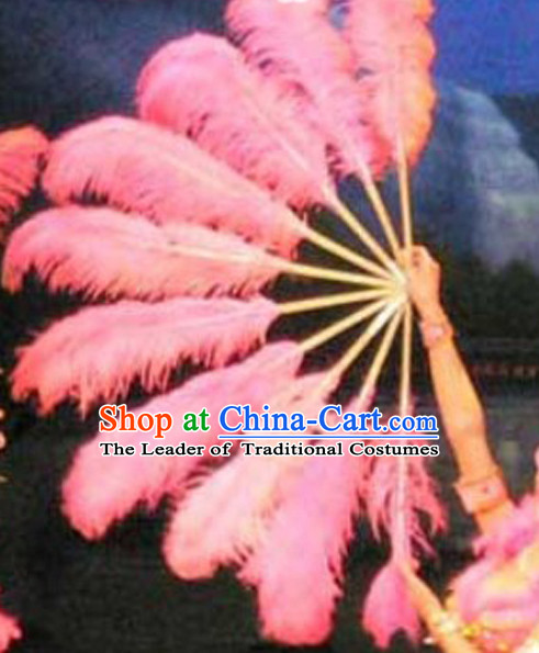 Big Giant Chinese Dance Feather Fan