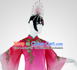 Chinese Classical Dance Wigs and Headwear Hair Accessories