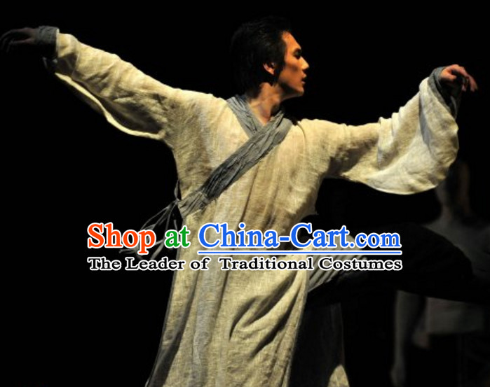 Chinese Classical Dance Costumes Complete Set for Men