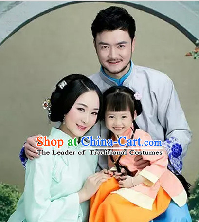 Minguo Period Chinese Costume Ancient China Costumes Han Fu Dress Wear Outfits Suits Clothing for Men Women Kids