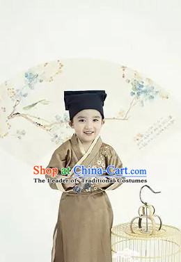 Chinese Han Dynasty Costume Ancient China Ethnic Costumes Han Fu Dress Wear Outfits Suits Clothing for Kids