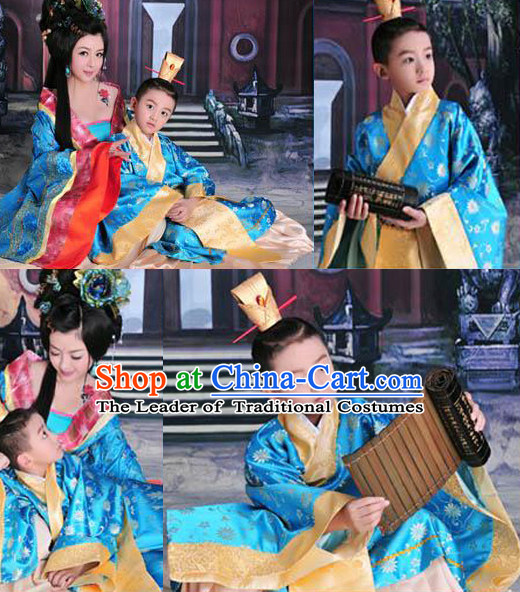 Chinese Han Dynasty Costume Ancient China Costumes Han Fu Dress Wear Outfits Suits Clothing for Women and Kids