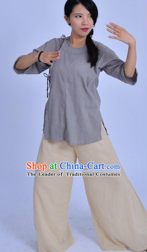 Chinese Kung Fu Clothes Clothing Costumes Complete Set for Men