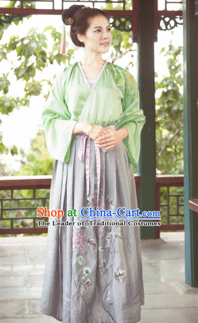 Ming Dynasty Ancient Chinese Costumes Classic Clothing Clothes Garment Outfits Dance Wear Dresses for Women