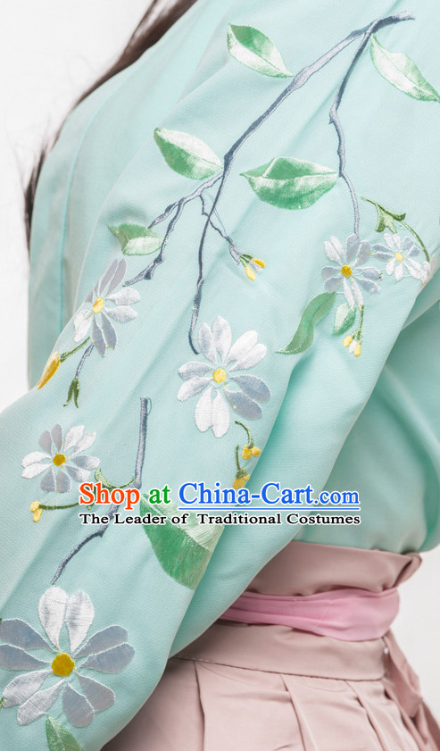 Chinese Ancient Han Dynasty Spring Summer Costume China online Shopping Traditional Costumes Dress Wholesale Asian Culture Fashion Clothing and Hair Accessories for Women