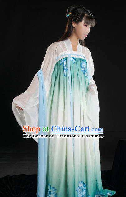 Asian Fashion Chinese Ancient Tang Dynasty Clothes Costume China online Shopping Traditional Costumes Dress Wholesale Culture Clothing and Hair Accessories for Women