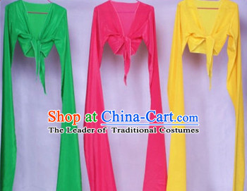 Pure Color Chinese Classical Dance Water Sleeves 3 Sets