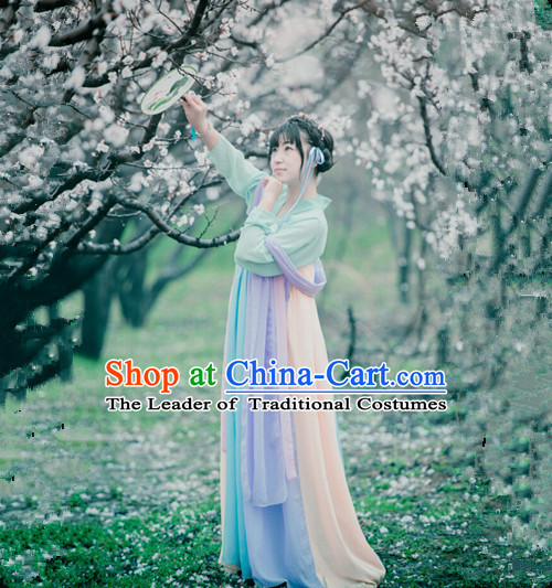 Chinese Classical Dance Outfits Group Dance Costumes