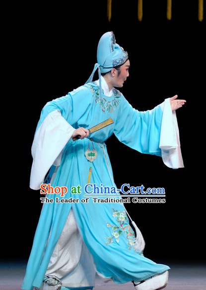 Chinese Opera Scholar Costumes and Headwear for Men