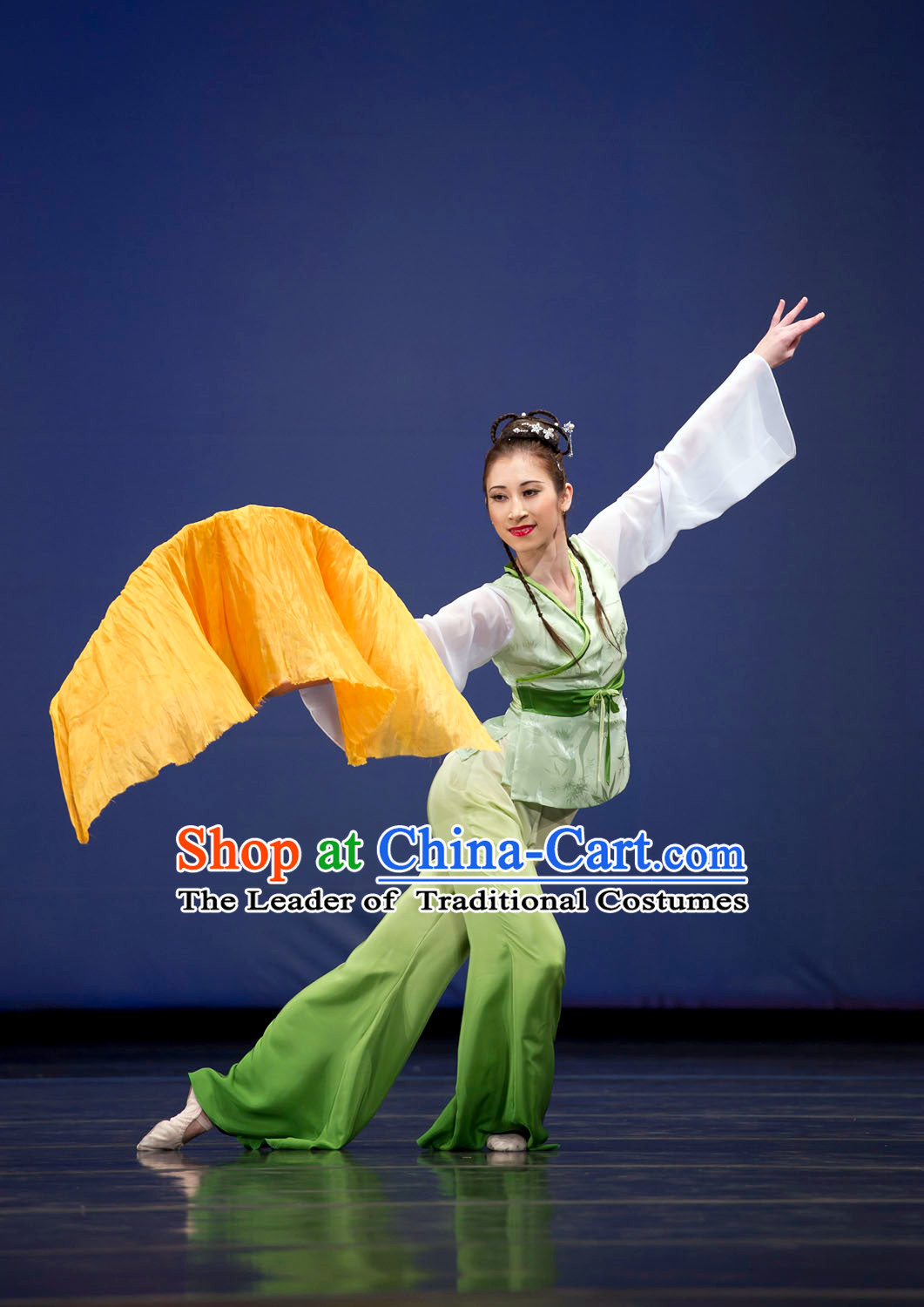 Chinese Folk Group Fan Dance Costume Chinese Costumes Carnival Costumes Fancy Dress National Garment