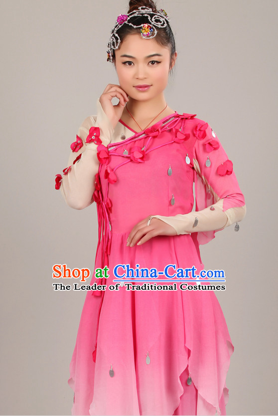 Chinese Costume Folk Dance Chinese Costumes Carnival Costumes Fancy Dress National Garment and Hair Accessories