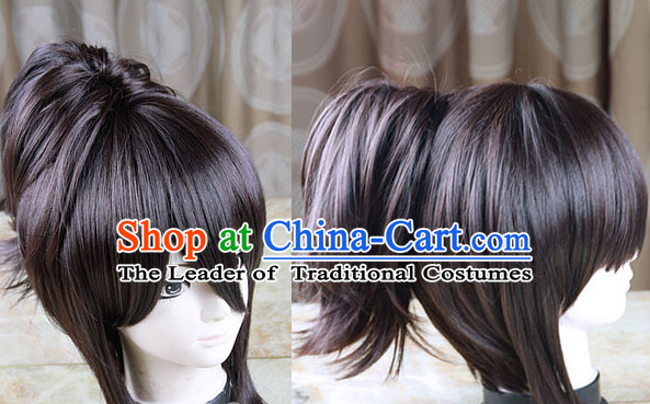 Black Chinese Ancient Heroine Cosplay Long Wigs Classic Wig for Women