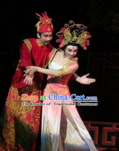 Ancient Chinese Asian Classical Dance Costumes Sexy Costume and Headwear Complete Set