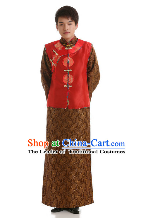 Chinese Opera Costumes Beijing Opera Costume Peking Stage Dress Bridegroom Wedding Dress Complete Set