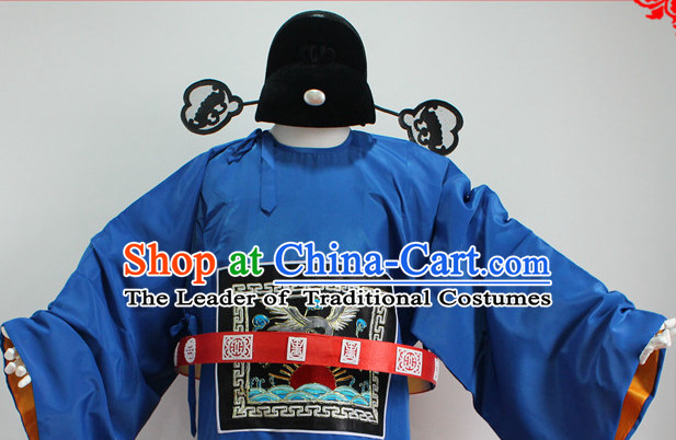 Chinese Costumes Chinese Opera Official Costumes Dress Costume and Hat Complete Set