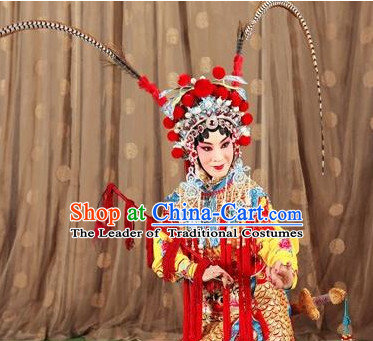 Chinese Opera Costumes Beijing Opera Costume Peking Stage Hua Dan Dress Dragon Robe Complete Set for Women