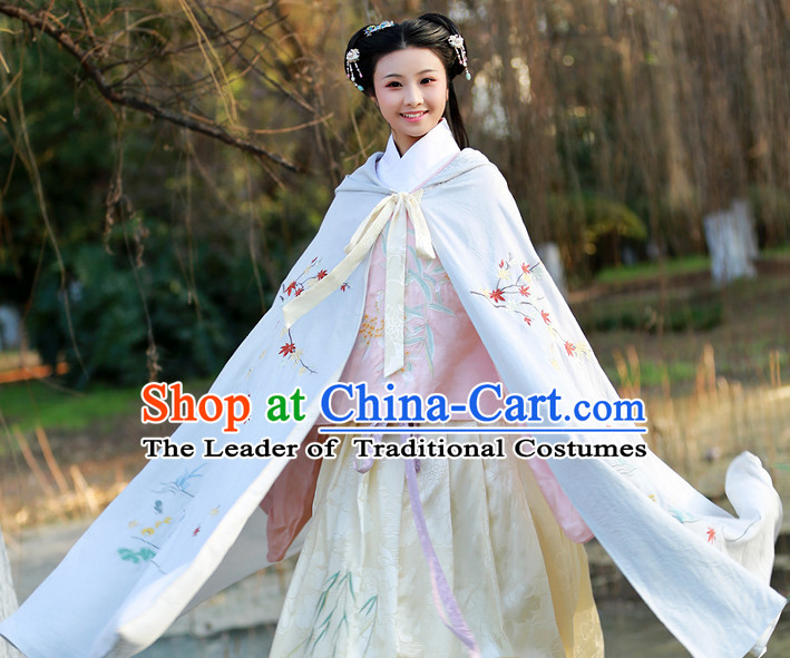 Long Ancient Chinese Cape Mantle for Girls and Women
