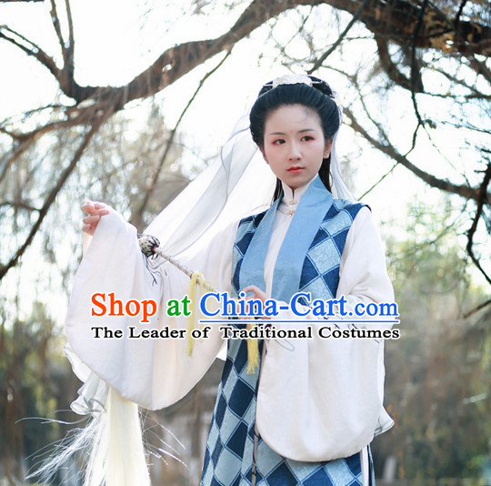 Chinese Ming Dynasty Wear Clothing and Hair Jewelry Complete Set for Women