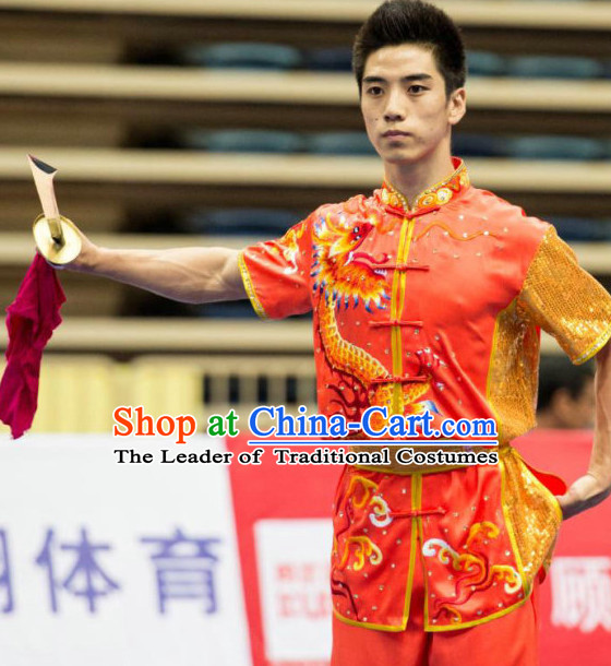 Tai Chi Sword Competition Outfit Taiji Swords Contest Jacket Pants Supplies Custom Dance Costumes Outfits Clothing for Men Women Kids Boys Girls