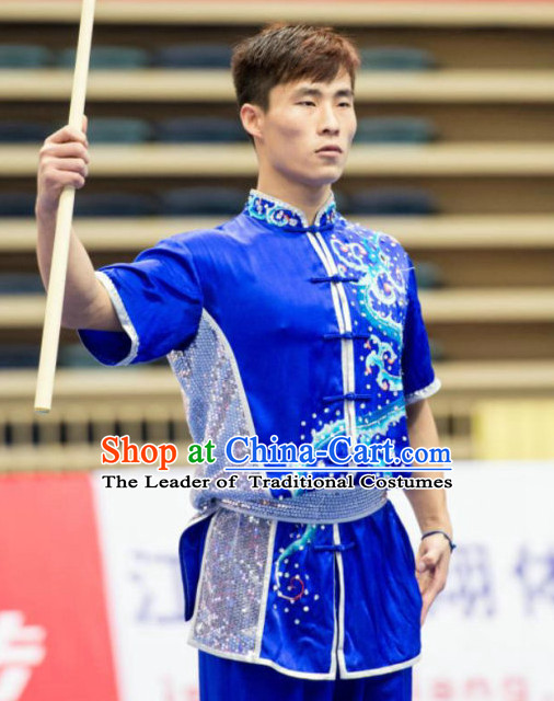 Top Wushu Competition Suits Tourament Qigong Kung Fu Training Karate Clothes Shaolin Outfit Martial Arts Uniform for Men Women Girls Boys Kids Adults